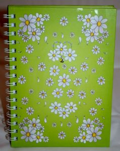 Daisy Flower  Hard Back Notebook Available in A5 or A6